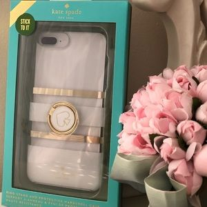 🎀Kate Spade ♠️ White Charlotte IPHONE PLUS Case.